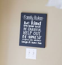 Home Decorating Rules by How To Make A Chalkboard Family Rules Sign Using A Cutting Machine