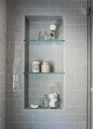 Glass Shelves For Bathrooms Beautiful Serene Bathroom Are The Glass Shelves In The Shower Niche