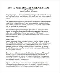 29 examples of college essays