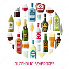 alcoholic drinks bottles alcohol drinks background design bottles glasses for restaurants