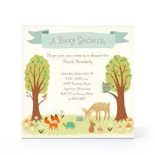 woodland creatures baby shower invitations best shower