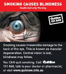 What Causes Eye Blindness Who Smoking Causes Blindness Back Of Pack