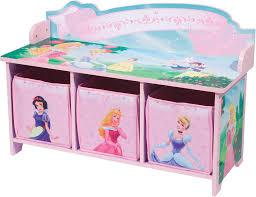 Bench Toy Storage Amazon Com Delta Enterprise Disney Princess 3 Bin Storage Toy