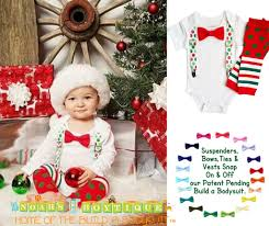 baby boy christmas christmas baby boy green dot suspenders bow tie