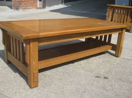 mission style coffee tables