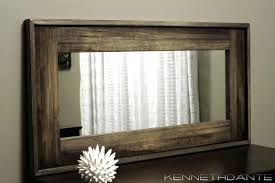 cherry wood bathroom mirror wood frames for bathroom mirrors classic wooden frame for bathroom
