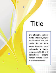 cover page of report template in word free cover page sle for report search places to