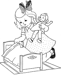 12 images of doll coloring pages for girls cute little