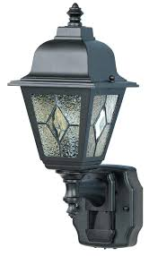 full image for heath zenith outdoor motion lights heath zenith sl 4395 bk classic collection classic