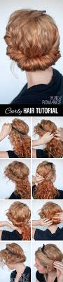 headband roll curly hairstyle tutorial rolled headband updo hair