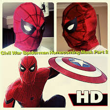 35 civil war spider man homecoming mask template 2