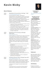 Examples Of Communication Skills For Resume by Marketing U0026 Communications Manager Resume Samples Visualcv