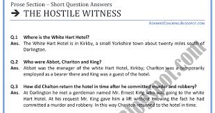 adamjee coaching english xi the hostile witness short
