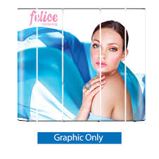 Graphic Panels Pop Up 9 Ft Straight Display Graphic Only 5 Graphic Panels