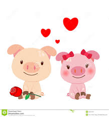 illustration of a pair of pig stock vector image 28552181