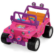 cool pink jeep power wheels barbie jammin jeep wrangler by fisher price on