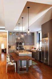 eat in kitchen island kitchen counter bar kitchen contemporary with wood floors wood