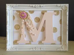 decorated wooden letter for girls bedroom m decoration letter art