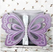 butterfly invitations asian handmade purple butterfly wedding invitations blank cards