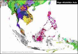 map asie southeast asia cartes linguistiques linguistic maps