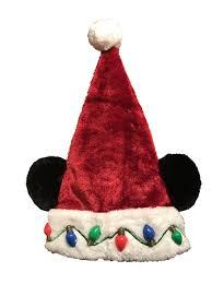 christmas hat santa mickey mouse ears light up lights