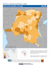 Republic Of Congo Map Maps Population Density Grid V3 Sedac
