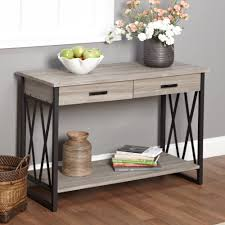 rustic metal shelves end table with drawer and shelf kentucky walnut log magnificent
