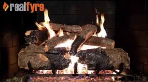 peterson real fyre charred american oak log set shown with the