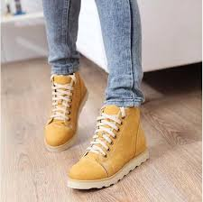 yellow boots s shoes free shipping s fashion flat form shoes winter shoes