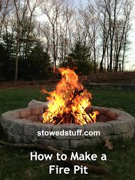 how to light a fire pit how to build a fire pit stowed stuff
