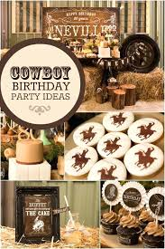 country decor this country and western cowboy themed birthday