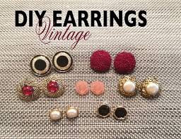 make your own earrings studs best 25 diy vintage earrings ideas on diy bracelet