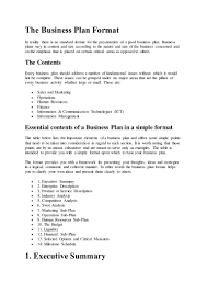 How To Build A Business Plan Template The Business Plan Format