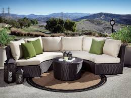 Curved Patio Sofa Curved Circular Outdoor Wicker Sectional Sets Wicker