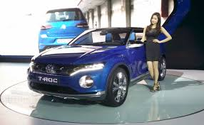 production vw t roc mini crossover teased at the geneva motor show