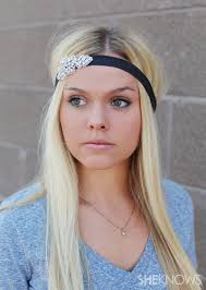 headbands that go across your forehead hairstyle obsession embellished hair ties and headbands