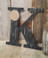 Metal Letters Home Decor by Black Rustic Chic Wooden Letter K Home Decor Letters Burlap