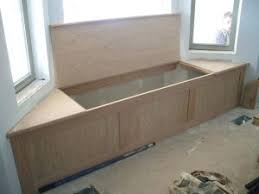 Corner Storage Bench Banquette Corner Bench Seat With Storage By Prairiewoodworking
