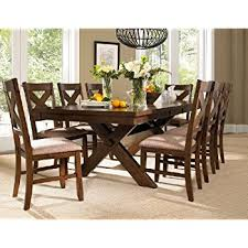8 Chairs Dining Set Amazon Com 247shopathome Idf 3336t 9pc Set Dining Room 9 Piece