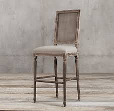 Restoration Hardware Bar Stool Vintage Square Back Collection Rh