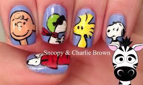 snoopy nail art tutorial peanuts movie youtube