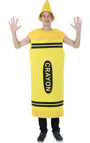 men u0027s yellow crayon costume jokers masquerade