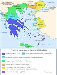 Map Of Crete Greece by Map Of Greece Expansion 1832 1947 U2022 Mapsof Net