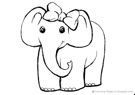 circus elephant coloring pages getcoloringpagescom