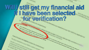 verification process financial aid