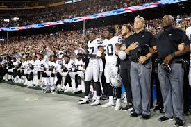 Oakland Raiders American Flag Most Oakland Raiders Sit In Protest At Washington After Donald