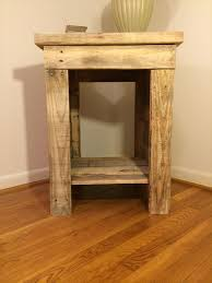 Diy Wooden Bedside Table by Diy Pallet Bedside Table Pallet Furniture Plans