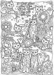 cats cutes coloring pages printable