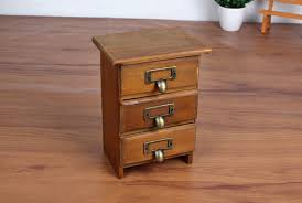 storage cabinet with drawers new arrival three layer retro small wood storage cabinet drawers