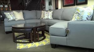living room furniture reviews ashley furniture chamberly alloy sectional 243 review youtube